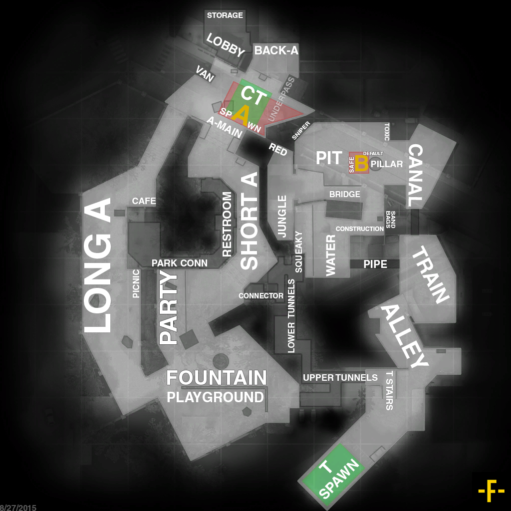 Basic Site Map: Counter-Strike Global Offensive